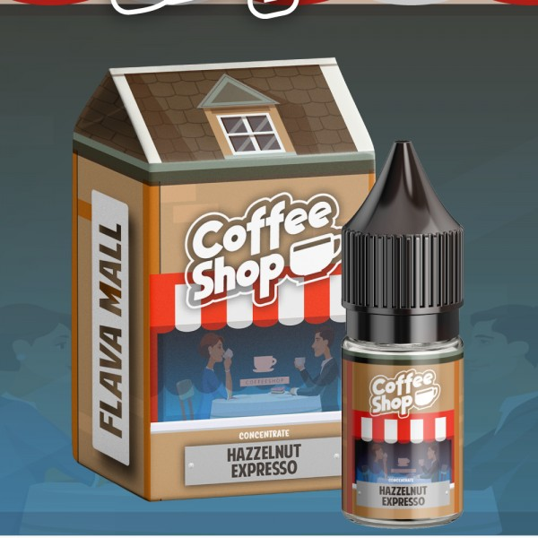 Hazelnut Expresso Coffee Shop (10ml) Aroma by Flava Mall ohne Nikotin