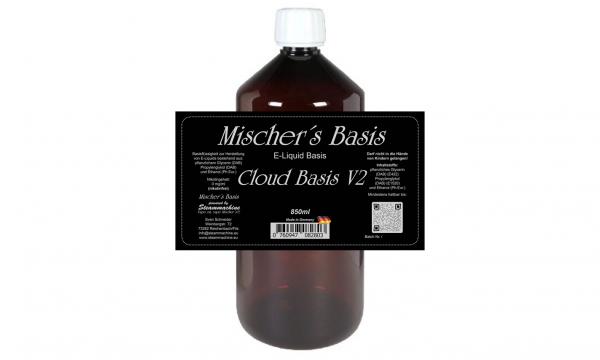 "850ml ""short filled"" Mischer´s Basis Cloud Basis V2 ohne Nikotin"