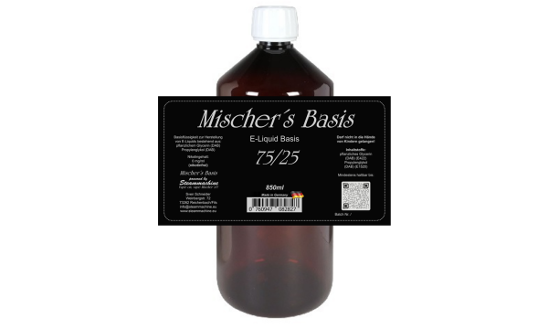 "850ml ""short filled"" Mischer´s Basis 75/25"
