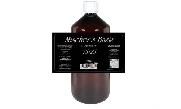 1000ml Mischer´s Basis 75/25 ohne Nikotin