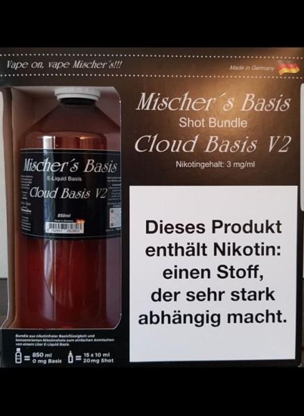 3 mg Basenbundle 1000ml Mischer´s Basis Cloud Basis V2
