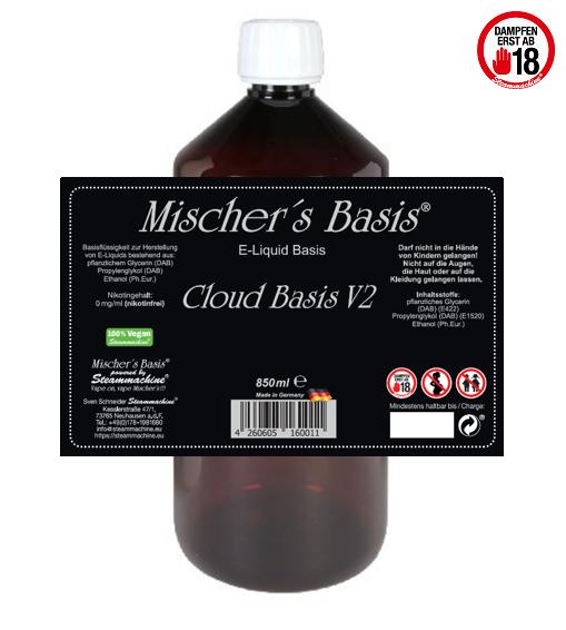 3mg Basenbundle 1000ml Mischer´s Basis Cloud Basis V2 Ethanol Base Basen Bundle