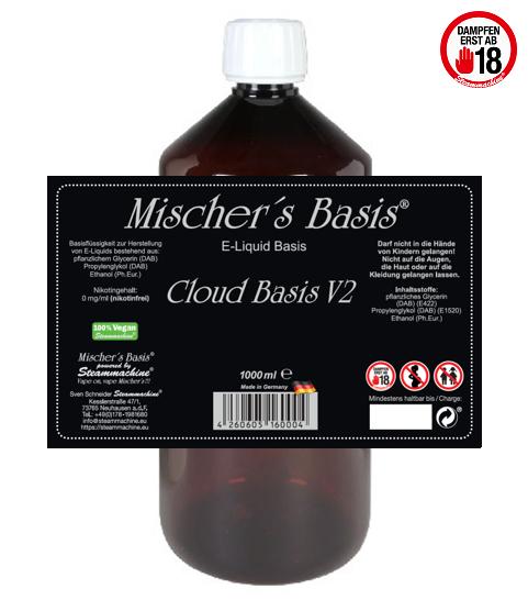 1000ml Mischer´s Basis Cloud Basis V2 Ethanol Base E-Liquid Base
